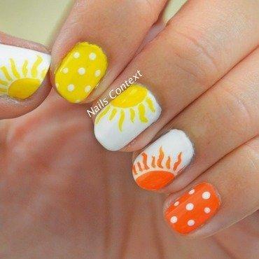 Sunburst nail art by NailsContext