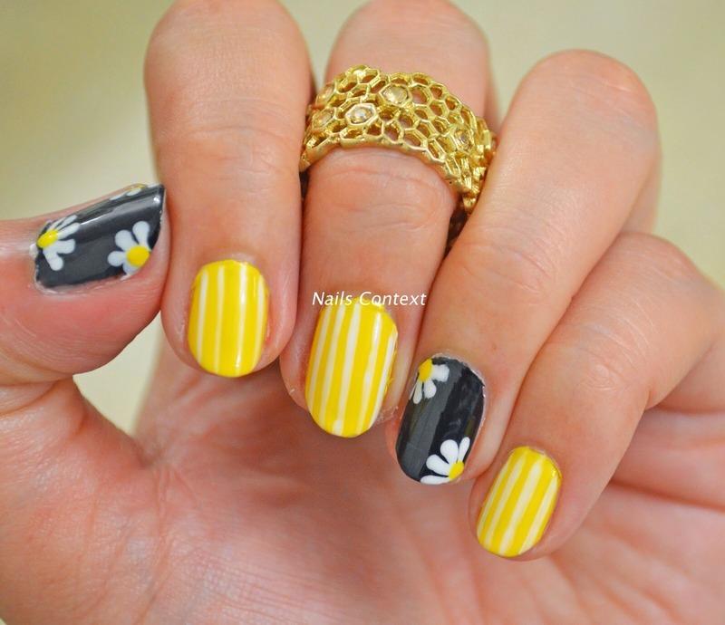 Summer and Daisies nail art by NailsContext