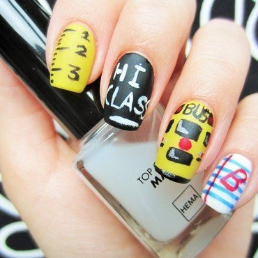 Back to School nail art by Jane
