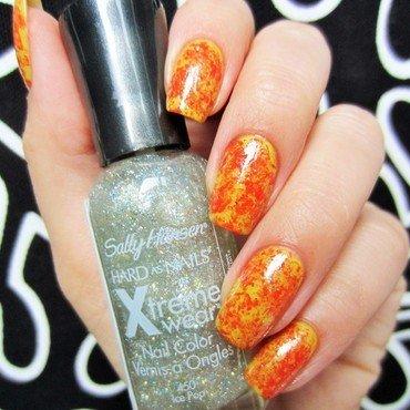 Saran wrap effect nail art by Jane
