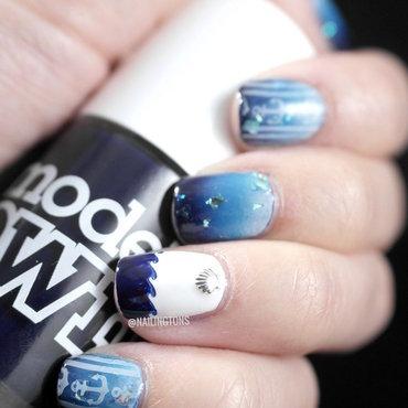 Beside the Sea nail art by Nailingtons