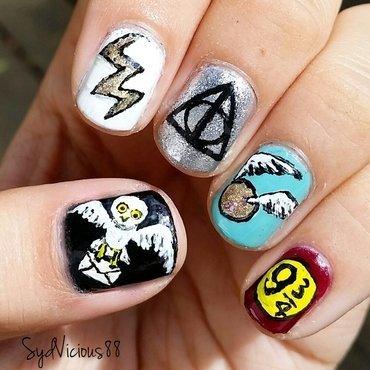 Harry Potter nail art by SydVicious