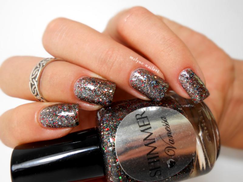 Shimmer Polish Vanessa Swatch by melyne nailart