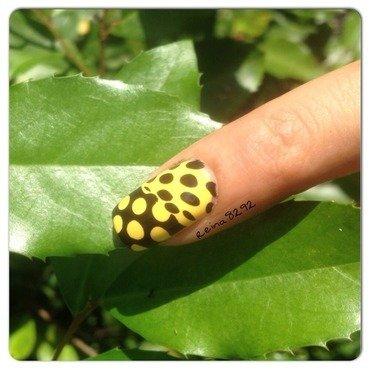 Yellow Stamping nail art by Reina