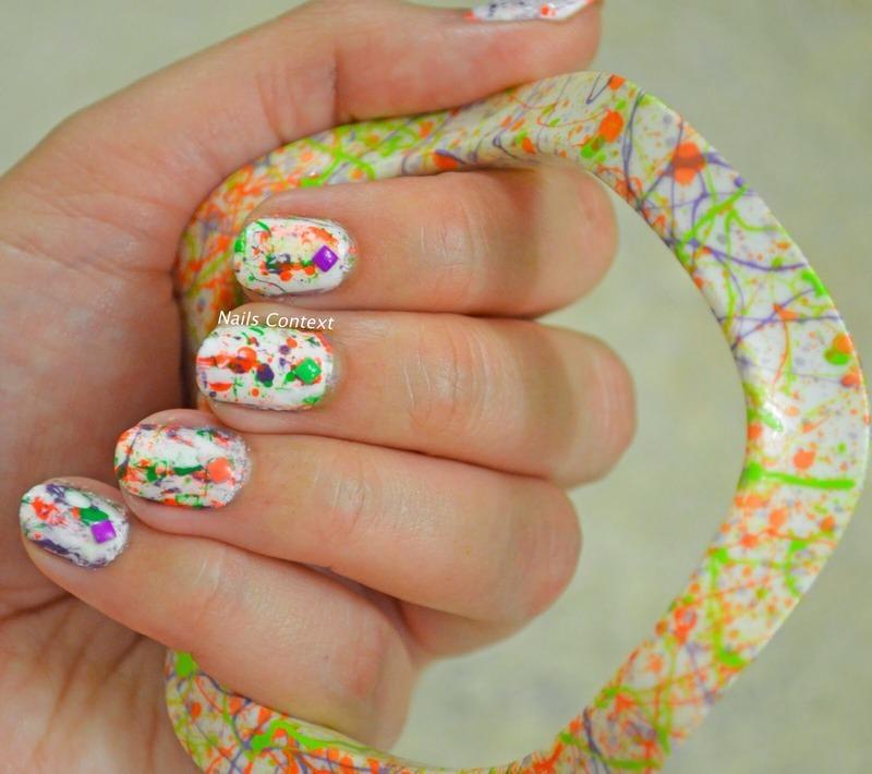 Splatter Nail Art nail art by NailsContext