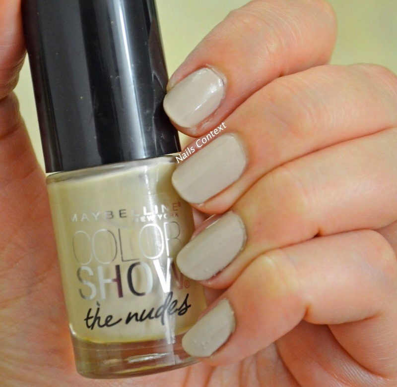 Maybelline Color Show Naturally Cream Swatch by NailsContext