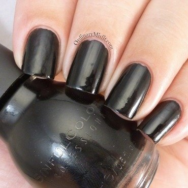 Sinful Colors Black on Black Swatch by Michelle