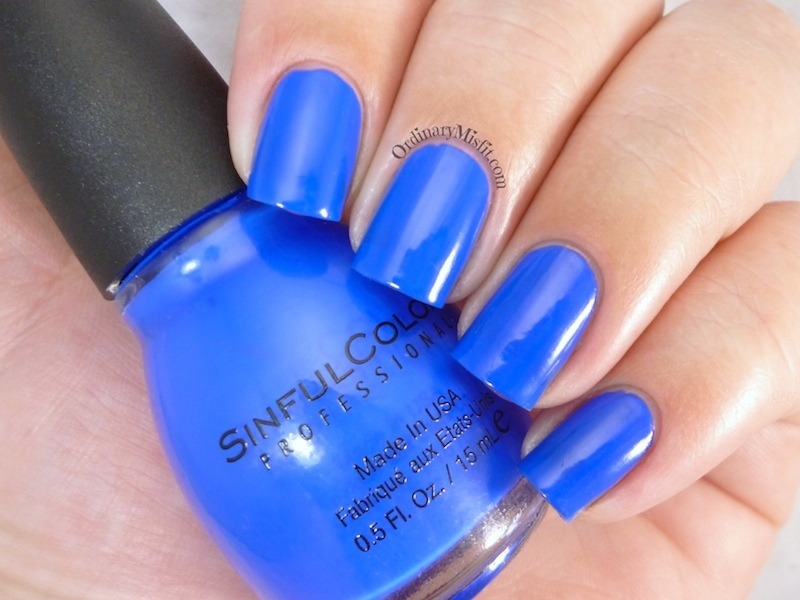 Sinful Colors Endless Blue Swatch by Michelle