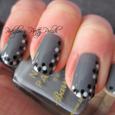 Monochrome Dotticure nail art by Pinkglow