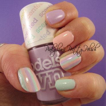 Fruit Pastel Candy Stripes nail art by Pinkglow