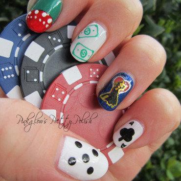 Vegas Nail Art nail art by Pinkglow