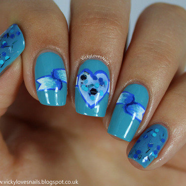 Blue Nails for Unicef nail art by Vicky Standage