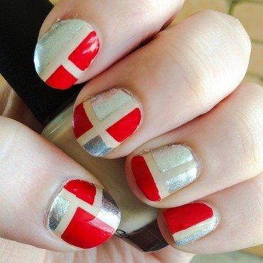 OPI Coke Colour Blocking nail art by Crafty_rach