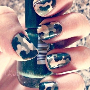 Camouflage! nail art by Sara T