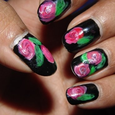 Floral Party nail art by Appu
