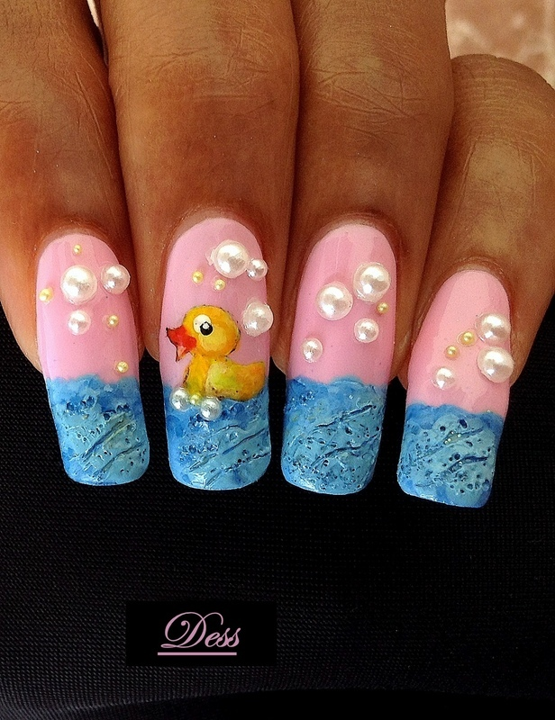 Rubber Ducky On The High Seas Nail Art By Desssure Nailpolis