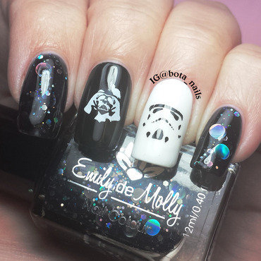 May the fourth be with you nail art by Meilina
