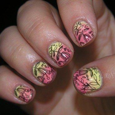 Tulips nail art by Agni