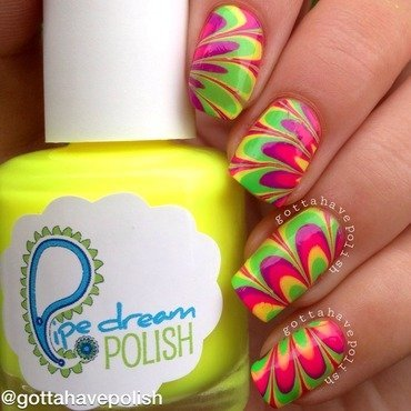 Pipe Dream Polish Watermarble nail art by gottahavepolish