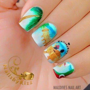 Maldives Nail Art nail art by Nailsbyrizz
