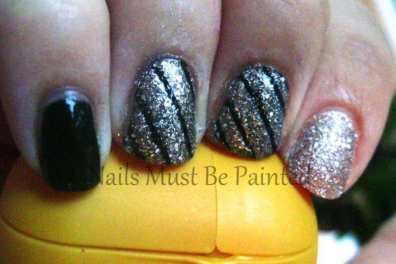 Celebration Sparkles nail art by Emily