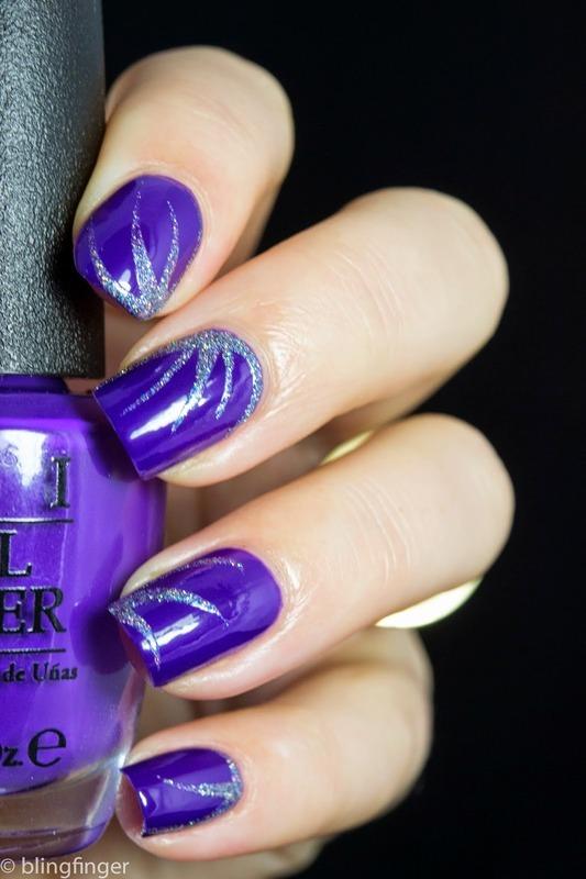 OPI Nordic - Nail Art nail art by  Petra  - Blingfinger