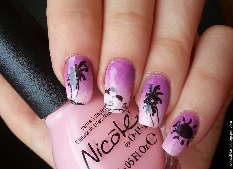 Seaside nail art nail art by KonadAddict