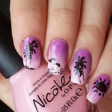 Seaside nail art nail art by KonadAddict