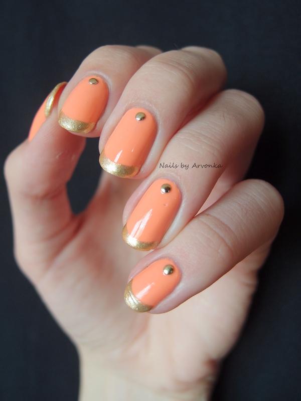 Summer French Mani nail art by Veronika Sovcikova