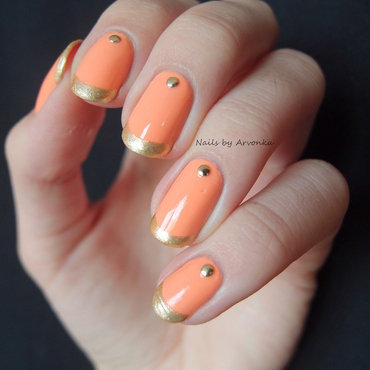 Summer French Mani nail art by Veronika Sovcikova