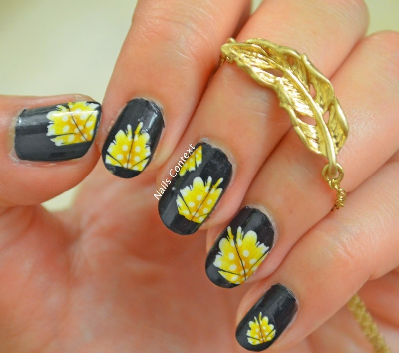 Feathers  nail art by NailsContext