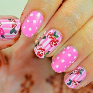 Vintage Roses nail art by NailsContext
