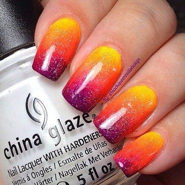 Sunset nail art by Blackqueennailsdesign