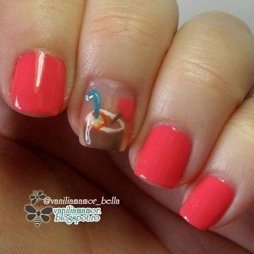 Tropical nail art by Isabella