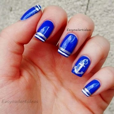 Sailor's nail art nail art by Easynailartideas