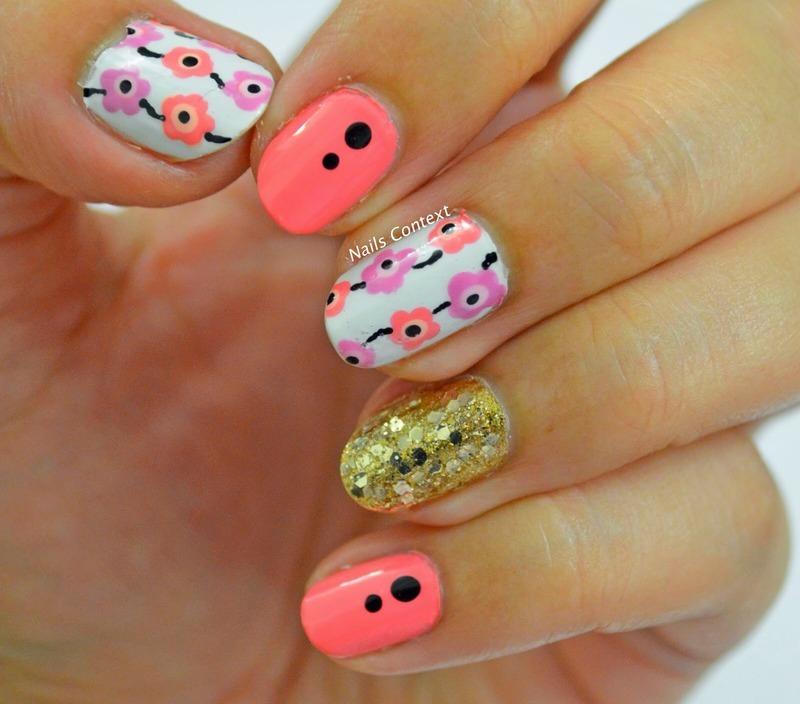 Marimekko Nails nail art by NailsContext