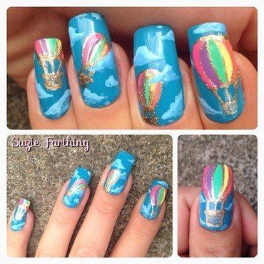 Lily Allen Air Balloon nail art by Suzie