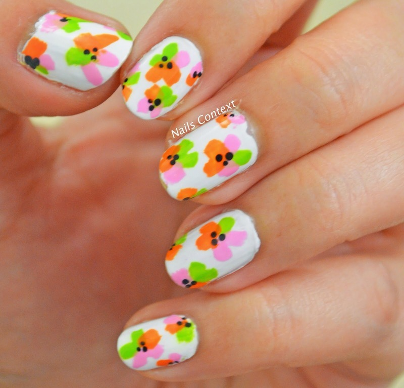 Summer Floral nails  nail art by NailsContext