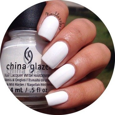 China Glaze Snow Swatch by Dvisha P