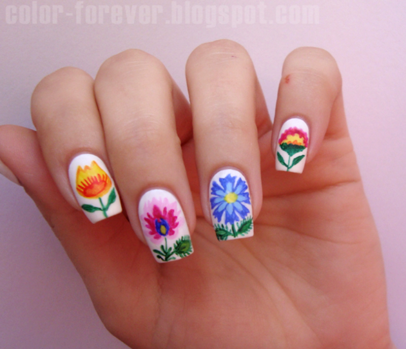 Folk Nails From Poland Nail Art By Ania