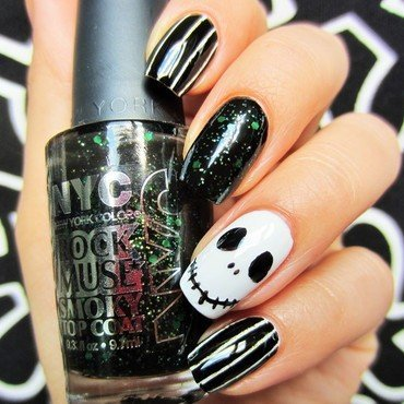 Scary nail art by Jane