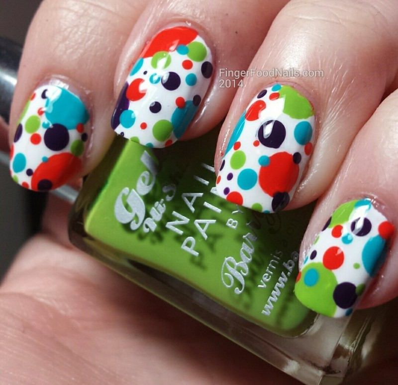 Gelly Dots nail art by Sam