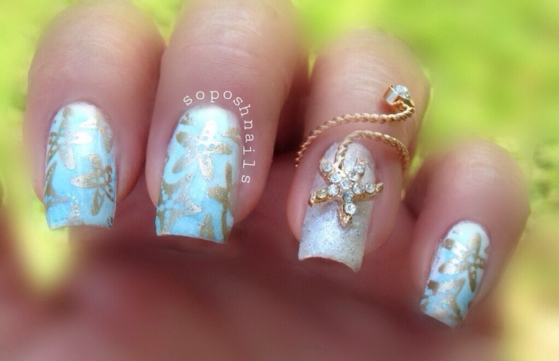 Starfish Nail Art By Debbie Nailpolis Museum Of Nail Art