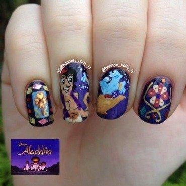 Aladdin / Robin Williams Tribute nail art by Hannah