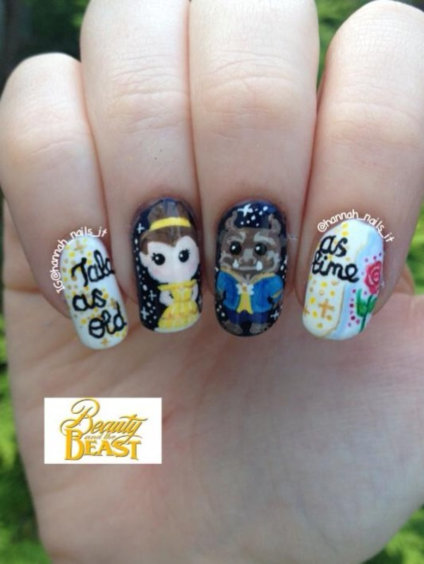 Tale as Old as Time nail art by Hannah