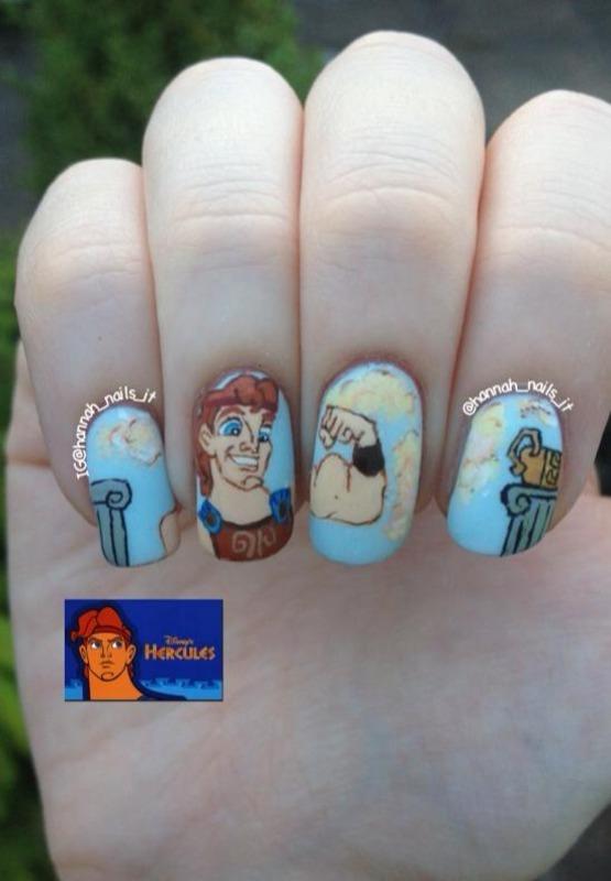Zero to Hero nail art by Hannah