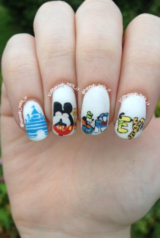 Disney lover nail art by Hannah