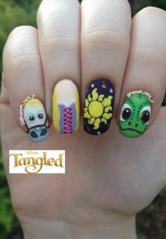 Tangled Talons nail art by Hannah