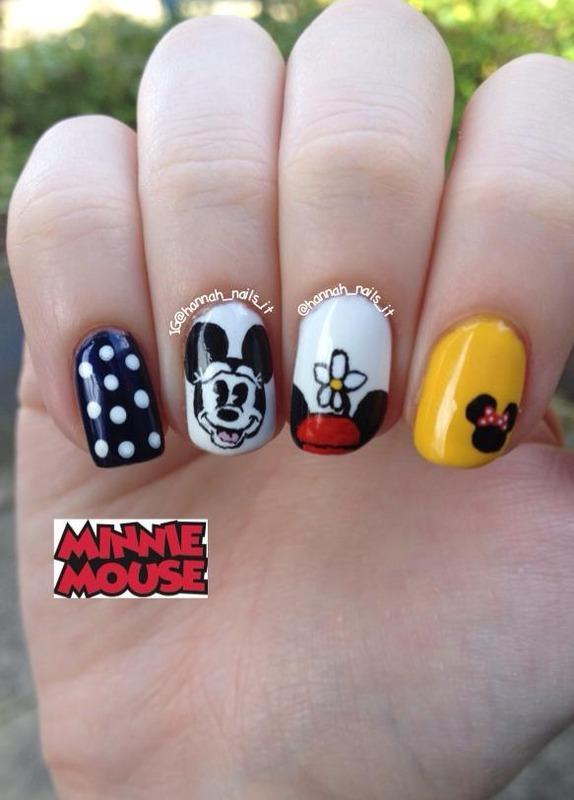 A Minnie Mani nail art by Hannah