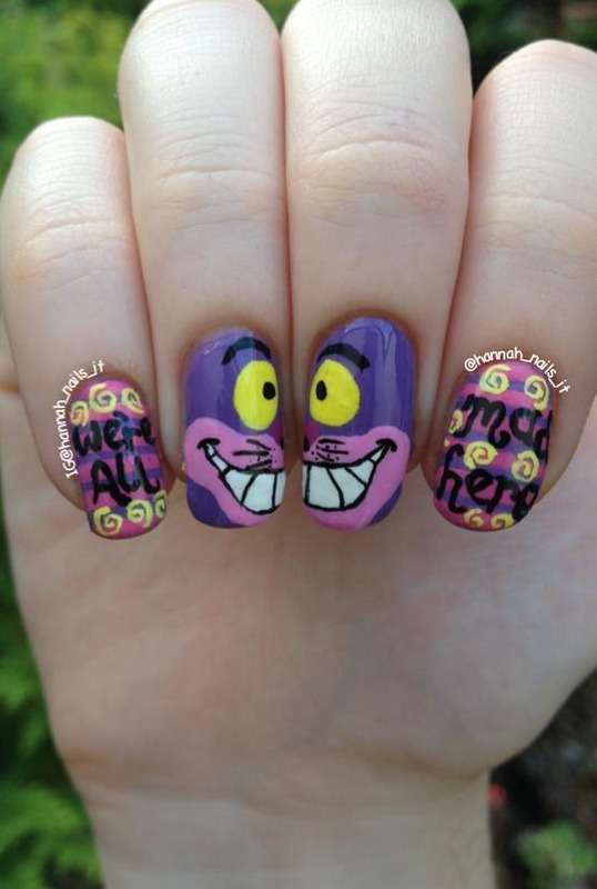We're all mad here.... nail art by Hannah